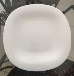 Jogo de pratos branco 3 und