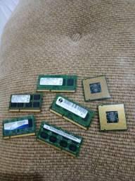 Título do anúncio: Memória e processador de notebook