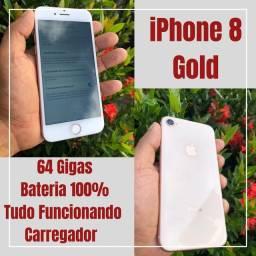 iPhone 8 Dourado 64 GB