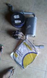 Disco de freio, cabo de freio, alternador e descarga