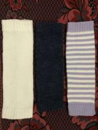 3 polainas de tricô