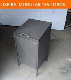 Lixeiras com tampa compacta 155 litros - fazemos entrega e instalação
