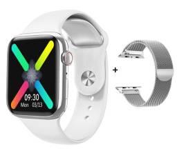 Relógio Smartwatch W98 Branco Original Faz Ligações Recebe Midias +1 Pulseira 100% Novo