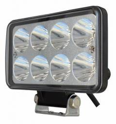 Farol de Milha Retangular LED 6K Universal Auxiliar Neblina Carro Caminhão Moto Jip