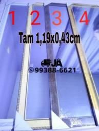 Título do anúncio: Espelho Tam 1,19 x 43 incluindo a moldura