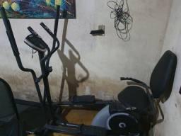 Esteira e Elíptico e Bicicleta Ergométrica.
