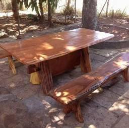 Mesas de madeira maciça fazemos entrega