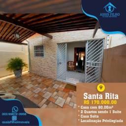 Excelente Casa de 2 quartos em Santa Rita, Jardim Miritania, Aceita-se Financiamento