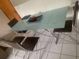 Mesa Aluminio com 5 cadeiras