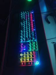 Teclado Mecânico Gamer RGB