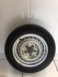 pneu montado com roda da kombi flex