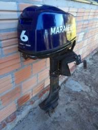Título do anúncio: Vendo motor de popa 6hp Maranello