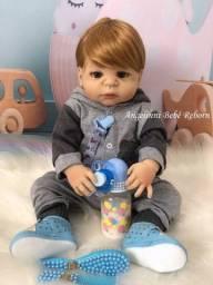 Título do anúncio: Boneca bebê reborn menino silicone pronto envio! com enxoval promoção!