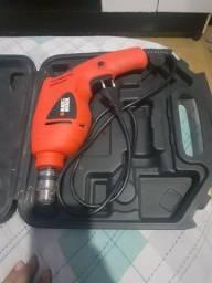 Kit Furadeira Impacto Black & Decker HD400K50 110V Laranja