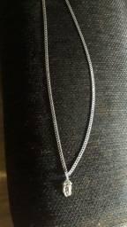 Corrente de prata 925 com pingente