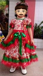 Vestido junino infantil (aluguel)