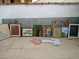 Lote quadros e molduras diversas