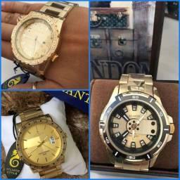 Relógios Dourados Atlantis Originais