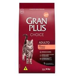 Vendo Ração Gran Plus Choice para gatos por 99,90 10kg!