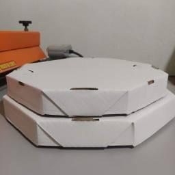 Caixas de pizza papelão branco