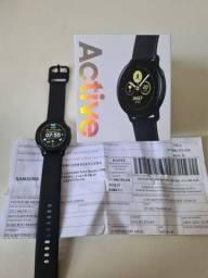Smartwatch Samsung Active 1. Completo com NF e Garantia.