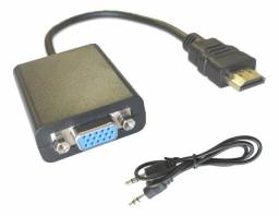 Conversor Hdmi Vga Com Áudio Adaptador Saída P2