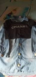 Vendo vestido jeans tamanho 10