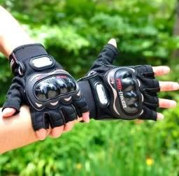 Luvas Para Motocilista e Ciclista ProBike com Proteção Meio Dedo