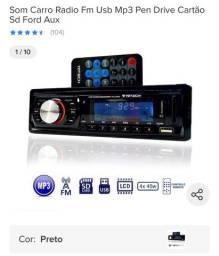 Radio mp3 com controle remoto