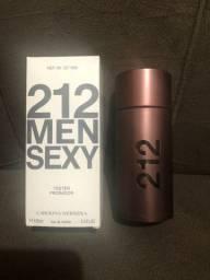 Perfume Masculino 212 Men Sexy 100ml Tester Novo Envio Imediato