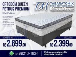 Super Promoção! Conjunto  Ortobom Queen Petrus Premium 32CM Altura! 12X Sem Juros