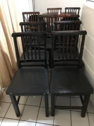 12 cadeiras diversas