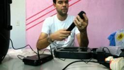 Microfone Sem Fio Duplo Vhf Profissional Vocal Artist