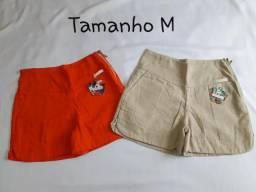 Shorts de Linho - estampados (Tam. M)