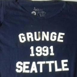 Camiseta feminina grunge Seattle 1991 M c826379adfb51