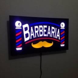 Quadros Luminosos Led Letreiros Barbearia Placas Barber Pole