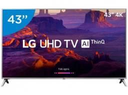 Smart tv Led 43 LG 4K Ultra HD 43uk6520psa WebOs Conversor Digital wi-fi 4 Hdmi 2 usb