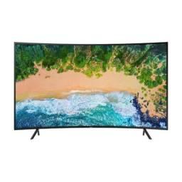 Smart TV Led Tela Curva 49 UHD Samsung 49NU7300 Ultra HD 4k com Conversor Digital 3 Hdmi