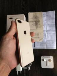 Iphone 8 Plus 64gb Gold Completo com NF Impecável