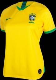 Camisa Feminina Brasil 2019/2020 Pronta Entrega