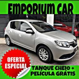 TANQUE CHEIO SO NA EMPORIUM CAR!!! RENAULT SANDERO 1.0 ANO 2017 COM MIL DE ENTRADA