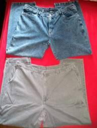 Lotee de calças jeans masculina semi novas ( Tam. 56 ) as duas por 50 reais