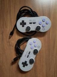 Controle 8BitDo SN30 Pro Nintendo Switch PC Raspberry