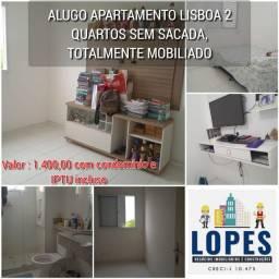 Alugo apartamento Lisboa 2 quartos sem sacada , totalmente mobiliado