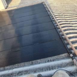 Instalação de placas solares.