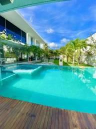 Casa no condomínio laguna com 4 suítes, sala de cinema, piscina e muito conforto