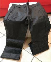 Calça Custom Original, legítima em couro marca Javali para motoqueiro, motociclista