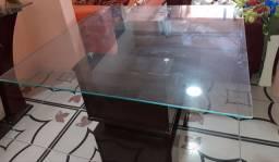 Mesa tempo de vidro , Ventilador de teto , Sofar 3 lugares