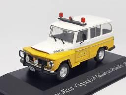 Miniatura rural Willys polícia RS