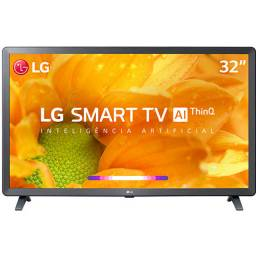 Smart TV Led 32'' LG 32LM625 HD Thinq AI Conversor Digital Integrado 3 HDMI 2 USB Wi-Fi